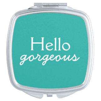Hola adulación magnífica a cada cara - trullo espejo de viaje