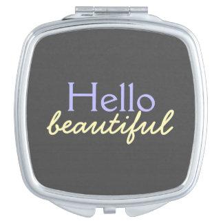 Hola - adulando a cada cara - púrpura hermosa espejo maquillaje