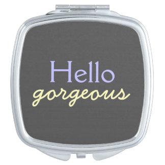 Hola - adulando a cada cara - púrpura magnífica espejos de viaje