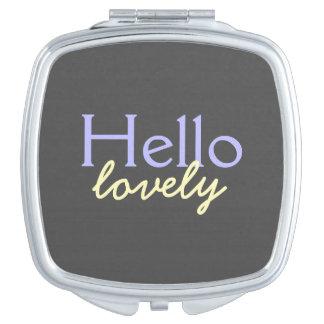 Hola - adulando a cada cara - púrpura preciosa espejos compactos
