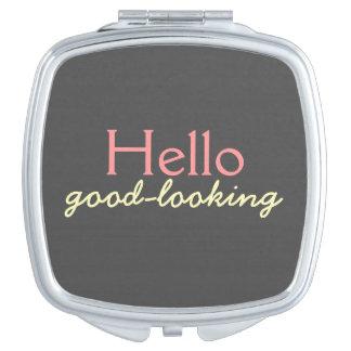 Hola - adulando a cada cara - rosa apuesto espejo maquillaje