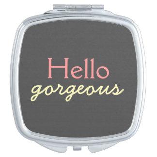 Hola - adulando a cada cara - rosa magnífico espejo de maquillaje