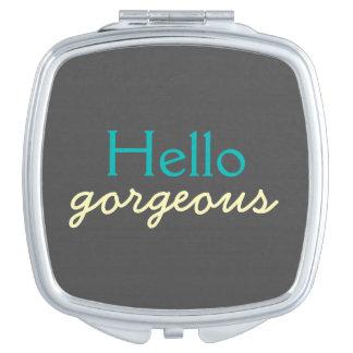 Hola - adulando a cada cara - trullo magnífico espejo de viaje