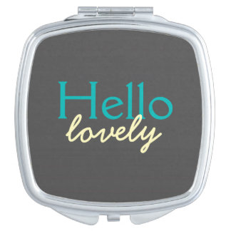 Hola - adulando a cada cara - trullo precioso espejos compactos