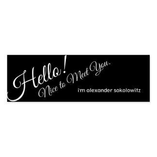 ¡Hola! ¡Agradable encontrarle! Tarjeta de visita d