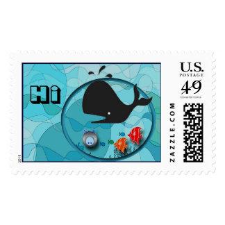 Hola, ahorre las ballenas timbres postales