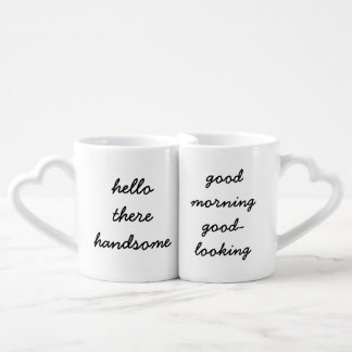 Hola allí tazas apuestas de la mañana tazas amorosas