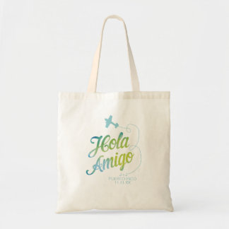 Hola Amigo Blue Watercolor Tote