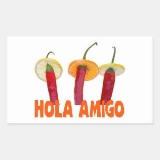 Hola Amigo Rectangular Sticker
