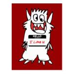 Hola, amo al monstruo de U Postales