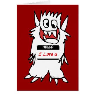 Hola, amo al monstruo de U Tarjeta De Felicitación
