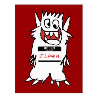 Hola, amo al monstruo de U Tarjetas Postales