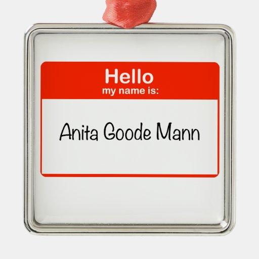 Hola Anita Goode Mann Ornamentos De Reyes