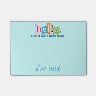 Hola apenas una pequeña nota del Poste-it® de la