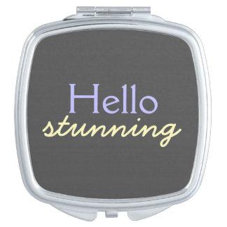 Hola atontamiento - adulando a cada cara - púrpura espejo de maquillaje