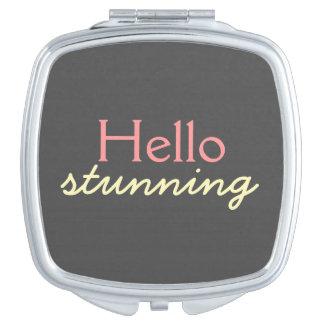 Hola atontamiento - adulando a cada cara - rosa espejo maquillaje