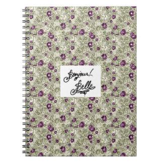 ¡Hola, Beautifu! (peony púrpura) Libro De Apuntes Con Espiral