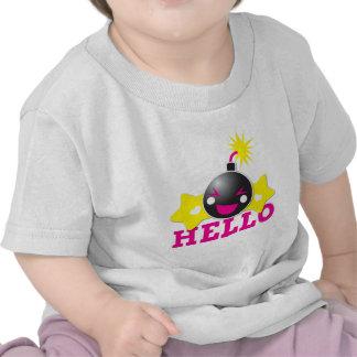 Hola bomba sonriente linda camiseta