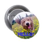 ¡HOLA! - Botón margoso Pin