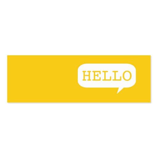 """Hola"" burbuja del discurso Tarjetas Personales"
