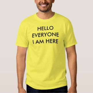 Hola cada uno camiseta camisas