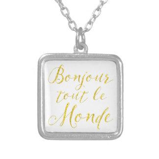 ¡Hola cada uno!  ¡Revendedor Le Monde de Bonjour! Colgante Cuadrado