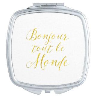 ¡Hola cada uno!  ¡Revendedor Le Monde de Bonjour! Espejo Compacto