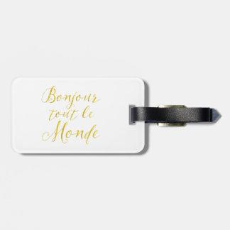 ¡Hola cada uno!  ¡Revendedor Le Monde de Bonjour! Etiquetas Bolsas