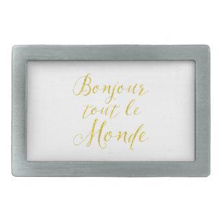 ¡Hola cada uno!  ¡Revendedor Le Monde de Bonjour! Hebilla Cinturon Rectangular