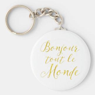 ¡Hola cada uno!  ¡Revendedor Le Monde de Bonjour! Llavero Redondo Tipo Pin