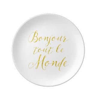 ¡Hola cada uno!  ¡Revendedor Le Monde de Bonjour! Platos De Cerámica