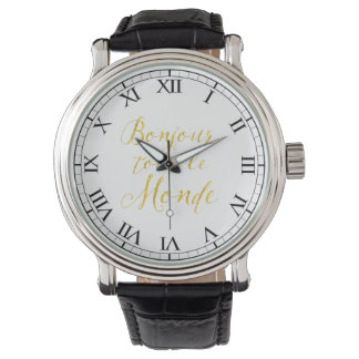¡Hola cada uno!  ¡Revendedor Le Monde de Bonjour! Relojes