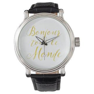 ¡Hola cada uno!  ¡Revendedor Le Monde de Bonjour! Relojes De Pulsera