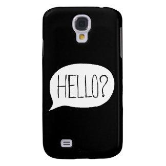 ¿Hola? Caja de la galaxia S4 de Samsung