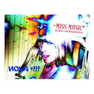 HOLA!! (CAMERA TIME WITH MISS MUSIC* Postcard