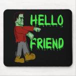 Hola camisetas espeluznantes de Frankenstein del a Alfombrillas De Raton