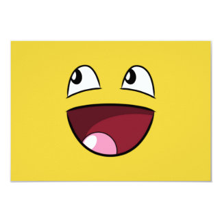 """hola cara feliz invitación 3.5"""" x 5"""""""