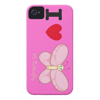 Hola casamata intrépida de Butterfly® Blackberry iPhone 4 Carcasa
