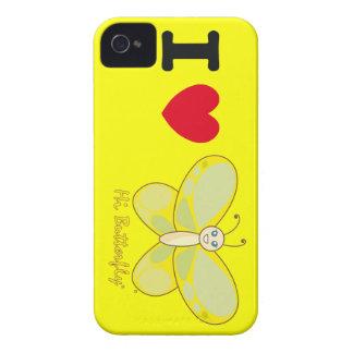 Hola casamata intrépida de Butterfly® Blackberry iPhone 4 Case-Mate Protectores