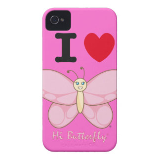 Hola casamata intrépida de Butterfly® Blackberry iPhone 4 Case-Mate Cárcasa