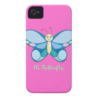 Hola casamata intrépida de Butterfly® Blackberry iPhone 4 Case-Mate Carcasas