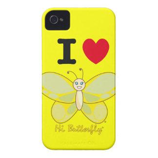 Hola casamata intrépida de Butterfly® Blackberry iPhone 4 Cobertura