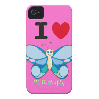 Hola casamata intrépida de Butterfly® Blackberry iPhone 4 Coberturas
