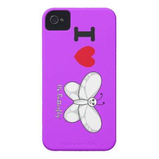 Hola casamata intrépida de Butterfly® Blackberry iPhone 4 Fundas