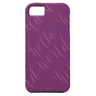 Hola caso del diseño de letras de la mano del funda para iPhone SE/5/5s