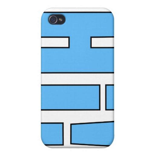 ¡Hola! Caso del iPhone del diseño del texto iPhone 4 Fundas