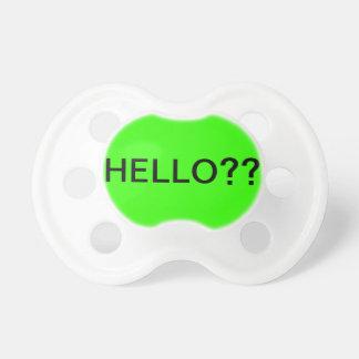 ¿Hola?? Chupete De Bebe