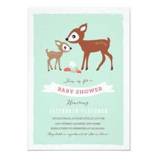 """¡Hola ciervos! La fiesta de bienvenida al bebé Invitación 5"""" X 7"""""""