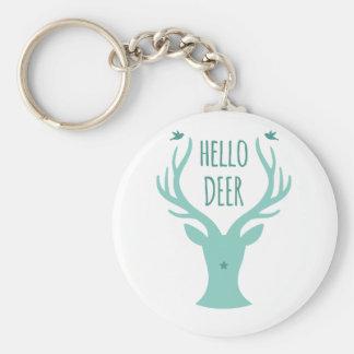 Hola ciervos, trullo llavero personalizado