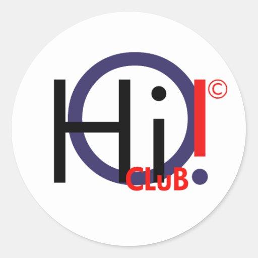 ¡Hola! Club Strickers. Pegatina Redonda
